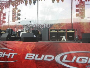 The stage, pre-Jetboy
