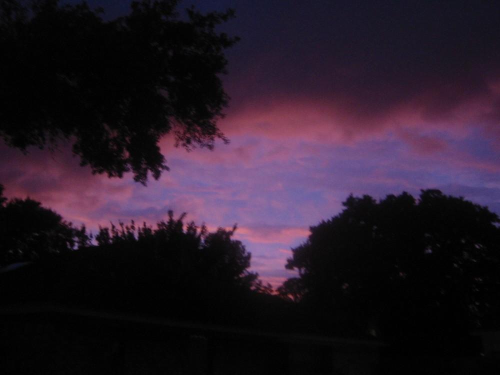Sunset, Friday night, Sept. 12, 2008