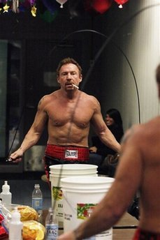 Danny Bonaduce warms up for a celebrity boxing match against Jose Canseco on Saturday, Jan. 24, 2009, in Aston Pa. (AP Photo/ Joseph Kaczmarek)