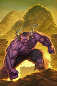 Bah! Hulk no bathe with laundry!  Now Hulk purple, too!