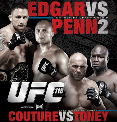UFC 118: Frankie Edgar, BJ Penn, Randy Couture, James Toney